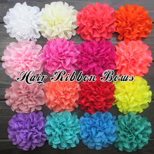 "Toplay 40pcs/lot 3.75""Fabric Rose Flower Flat Back Eyelet Flowers Girls Boutique Hair Flower Decoration Garment Accessories"