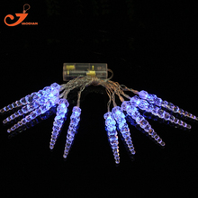 Blue icicle string lights fairy winter color led  Christmas light home garden lights santa battery powered  party 3V AA indoor