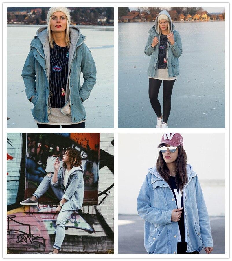 معطف جينز قطعتين دافئ وعصري 2