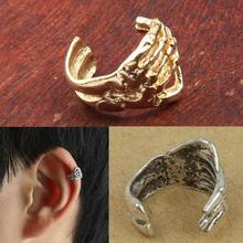 8pcs Retro Gothic Punk Skeleton Hand Skull Shaped Ear Clip Earring For Women & Men Ear Cuff Silver/Gold