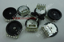 [BELLA]Red diamond sale supply volume potentiometer adjustable pulley wheel 16 * 2 double- B50K--100PCS/LOT(China)