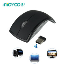 Computer Peripherals Accessories 2.4GHz Arc Wireless USB Receiver Slim Foldable Optical Flat For Microsoft Touch Mouse(China)
