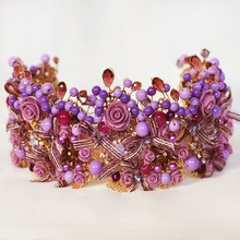 British Empress Chic Regal Purple Vintage Barcoque Antique Gold Golden Kings Rhinestones Royal Crowns For Wedding Prom Parties