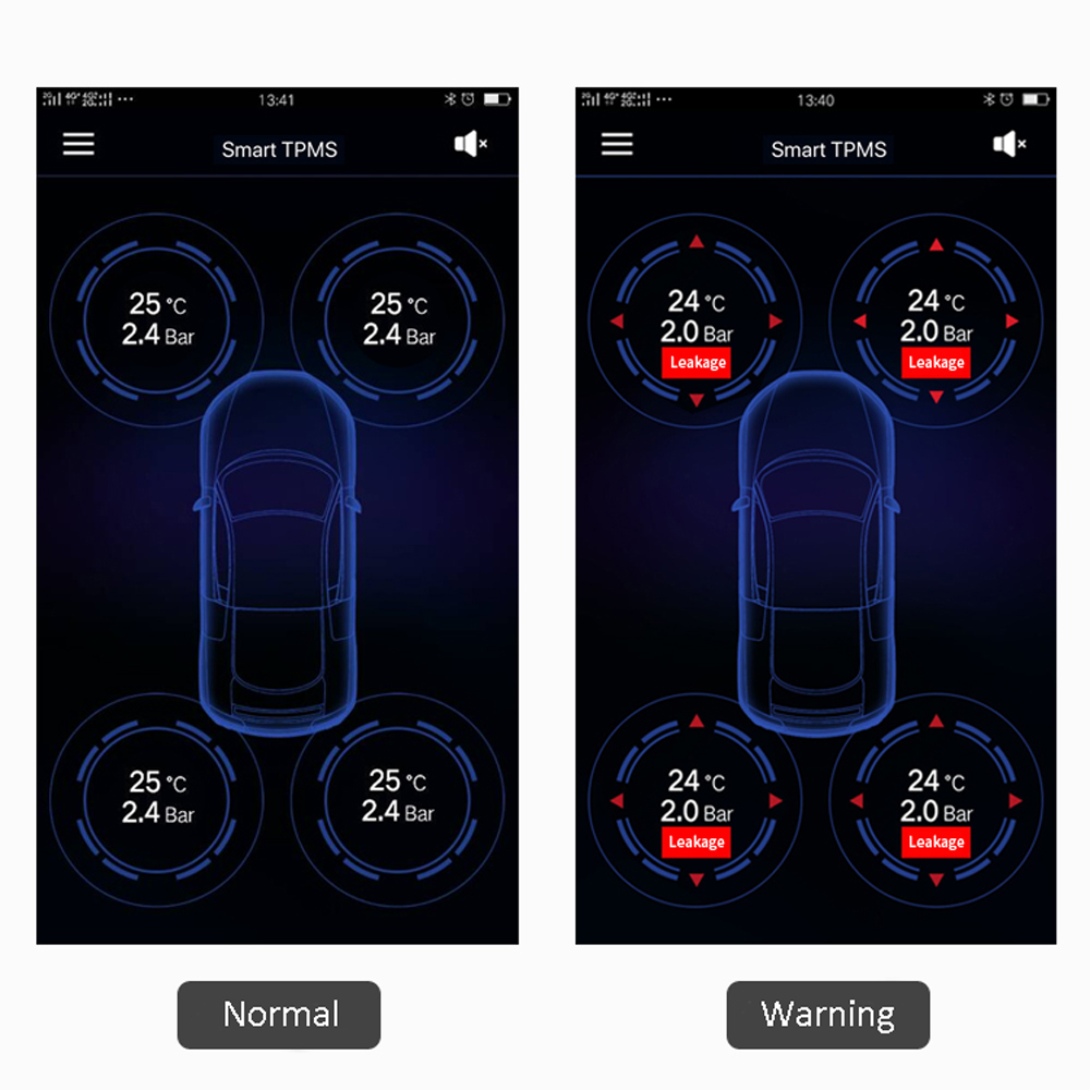 Vantrue TPMS Tire Pressure Monitor System Wireless Bluetooth Connect with Free App for Android IOS Auto Security Alarm System (3)
