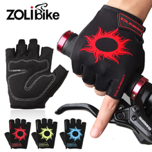 Buy ZOLibike Bike Parts Half Finger Men Cycling Gloves Sponge Pad Sport Bicycle Gloves Shockproof Breathable Outdoor Bicycle Gloves for $8.00 in AliExpress store