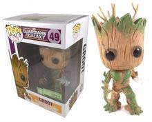 New Hot Marvels Guardians of the Galaxy Groot FUNKO POP Wacky Wobbler Shake Bobble Head Tree Toy PVC Action Figure hand luminous