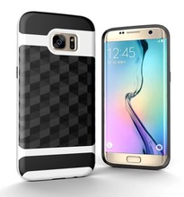 For Samsung S7 S7edge Case SGP armor Antiskid Metal Wire drawing diamond Mirror Fall proof For Galaxy S8 S8plus Smart cover(China)