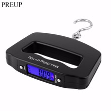PREUP Mini Hand Held Plastic 50kg/10g LCD Digital Fishing Hanging Electronic Scale Pocket Hook Weight Luggage Scale(China)