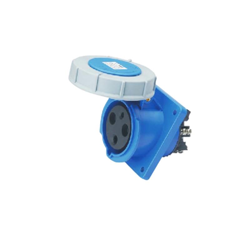 63A 3Pin 220-240V Novel industrial waterproof hidden inclined socket Waterproof grade IP67 SFN-4332<br><br>Aliexpress