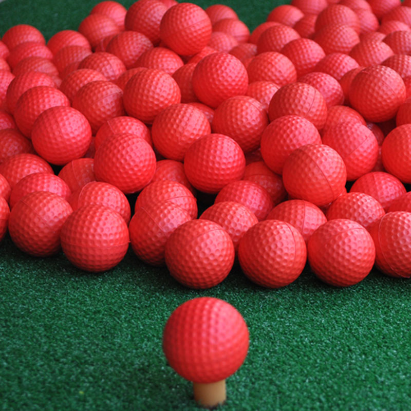 New Brand Free Shipping 100 pcs/bag Red Indoor Outdoor Training Practice Golf Sports Elastic PU Foam Balls<br>