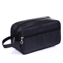 Black Cosmetic bag Simple Waterproof Makeup bag Toiletry kit men women Wash bags make up toilet Travel Pouch organizer travel(China)