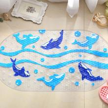 Cartoon Dolphin PVC Bath Mat Anti-Slip Bath Mats Suitable For Car Bathroom Toilet Foyer Floor Carpet(China)