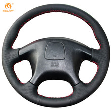 Mewant Black Artificial Leather Car Steering Wheel Cover for Mitsubishi Pajero Old Mitsubishi Pajero Sport