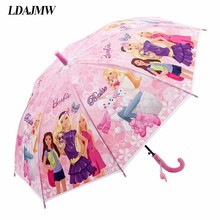 LDAJMW Hot Lovely Cartoon Umbrella For Sun Protection School Students Long Handle Umbrella For Kids Girls Boys Gifts