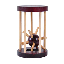 High Quality Wooden Intelligence Toy Ming Lock Take out Spiked Ball Brain Teaser Toy Gift Educational Toys for Children Kid