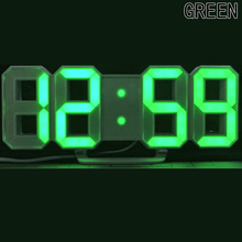 Modern Wall Clock Digital LED Table Clock Watches 24 or 12-Hour Display clock mechanism Alarm Snooze Desk Alarm Clock