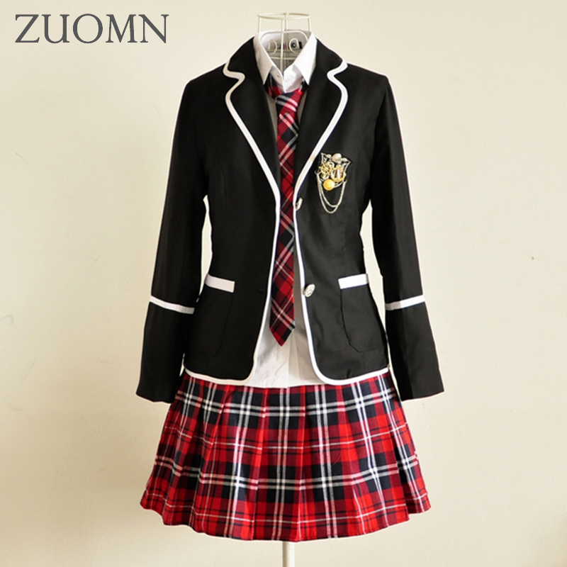 2017 Childrens School Uniform Clothing Kids Clothes Sets Primary Students Reading British Student School Uniforms Suits YL471 <br>