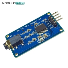 YX5300 UART Control Serial MP3 Music Player Module For Arduino AVR ARM PIC CF Micro SD SDHC Card UART TTL Support MP3 WAV DC3.3V(China)