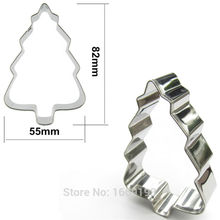 Direct Selling,Lush Christmas Tree Shape Cake Decorating Fondant Cutters Tools,Christmas Cake Cookie Biscuit Baking Molds(China)