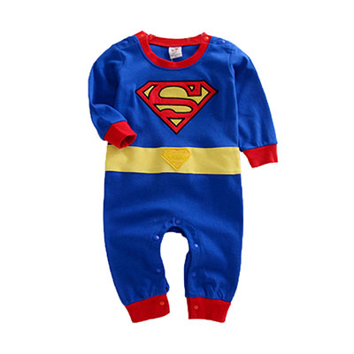 NewBorn Baby Boy Clothes Superman Character Baby Rompers Blue Red Cotton Jumpsuit Toddler Overalls Long Sleeve Baby Boy Rompers