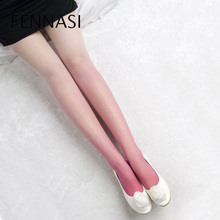 Buy FENNASI Kawaii Gradient Color Women's Tights Female High Waist Women Black Tights Transparent Candy Color Lolita Sexy Pantyhose