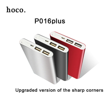 hoco Color Power Bank 12000 mAh Portable Mobile Charger 2 USB External Battery Charger Ultra Thin for Phone+ LED Fast Shipping(China)