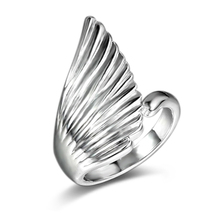 Crown Ring For Women Angel Wings Design Anillos De Compromiso The Queen Silver Jewelry Anel Feminino Vintage 2017 New
