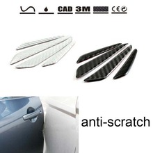 Buy 4pcs 2 colors available Carbon Fiber Car Door Protector scratch-resistant strips Door Side Edge Protection Stickers for $11.74 in AliExpress store