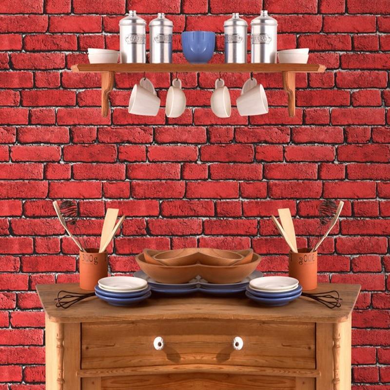 Free Shipping Modern Chinese 3D Stereo Gray Brick Wallpaper Vintage Brick Hot Pot Restaurant Bar PVC Foam Wallpaper<br>