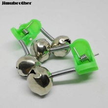 20 Pcs Fishing Bite Alarms Fishing Rod Bells Tip Clip Bells Ring Green ABS Fishing Accessories chinese supplier