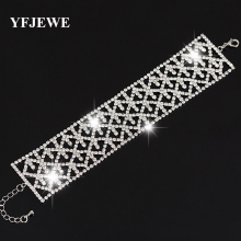 Buy YFJEWE Wedding Bracelets & Bangles Silver Plated rhinestone Chain Luxury Austrian Crystal Bracelet Women Classic Jewelry B055 for $2.96 in AliExpress store