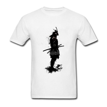2017 Tops Design 3D Print Japanese Armored Samurai Custom Tee Shirt 3XL Men Cool T Shirt Tops