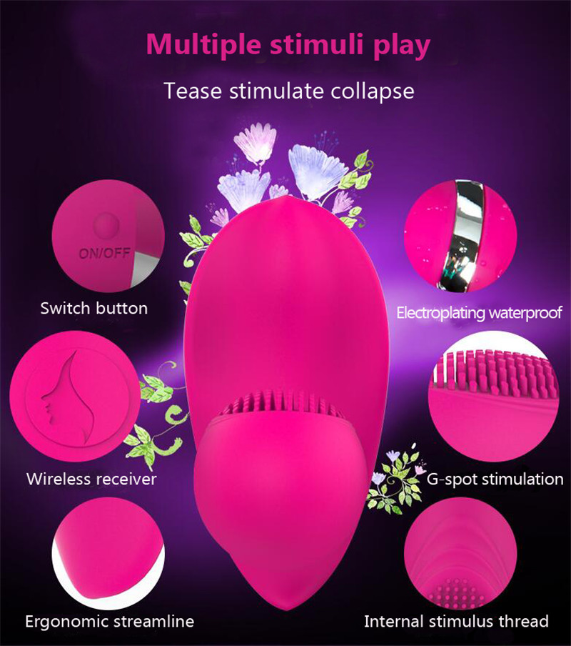 Wireless Butterfly Vibrator Magic Wand Women G-spot Vibrators Remote Control Charging Warmed Vibrating Body Massager Sex Toy 5