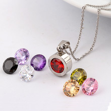 Fashion Necklace for women 2015 316L Stainless Steel DIY Crystal Charm Pendants Necklaces