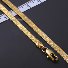 Fashion COOL 4/5.5/9mm Herringbone Mens Chain SNAKE Womens necklace Gold Filled Jewelry Gift Party Daily Wear  DLGN124