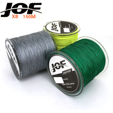 JOF pe braided fishing line 150m 165yds PE 8 Strands Braid Fishing Line Green/Grey/Yellow Color super strong 15LB-80LB
