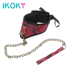 Buy IKOKY Neck Sleeve SM Bundling Flirting Pleasure Fetish Sexy Slave Bondage Games Adult Sex Toys Couples Roleplay Neck Collar