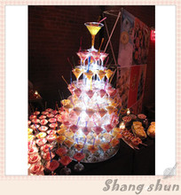 7 Tier Acrylic Round Wedding Cake Stand/ Cupcake Tower/ Dessert Stand/ Pastry Serving Platter/ Food Stand For Big Event