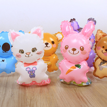 Free shipping 5pcs/lot new cartoon wrist aluminum balloons bear cats and dogs modeling children toy balloons birthday party