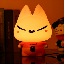 Desk Lamps Baby Room Panda Rabbit Dog Bear Frog Pig Cartoon Nightlight Kids Bed Lamp Sleeping Night Lights Table Lamp With Bulb