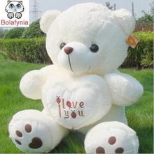 Love holding heart Teddy Bear Beetle Baby Bear plush toy doll lovers children Stuffed toy