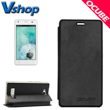 Original OCUBE CUBOT Echo Mobile Phones Litchi Texture Horizontal Flip Leather Smartphone Case Cover Shell with Holder