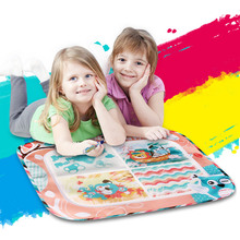 meibeile 70x60cm Kids Big Magic Aqua Doodle Drawing Play Mat Toys with 4 Painting Areas Water Pen for Children Educational Gifts(China)