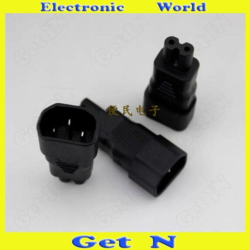 2pcs-10pcs 3 Pin 8 Type Power Converter Connector Plug Jack REC Socket Adapter<br><br>Aliexpress