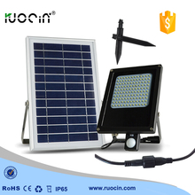 motion sensor 120 leds solar power  waterproof IP 65  solar street flood light