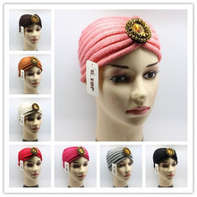 new fashion gold beads Sparkle dimond jeweled  knitted headbands ear warmer hair band