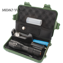 3800LM Lanterna CREE XML T6 Tactical Flashlight Zoom Linternas LED portable flashlight for camping by 18650 Rechargeable Battery(China)