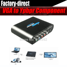 VGA to Ypbpr component Video converter PC to TV converter with power adapter(China)