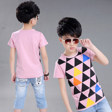 4-12 Year New Style Fashion All-Match Kids Boys Girls T-shirts Childrens Tops T shirts Girls Clothing Teenage Clothes big boy
