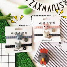 Korean Harajuku cute little animal ring small fresh soft adorable cat pendant ring plane hair ornaments